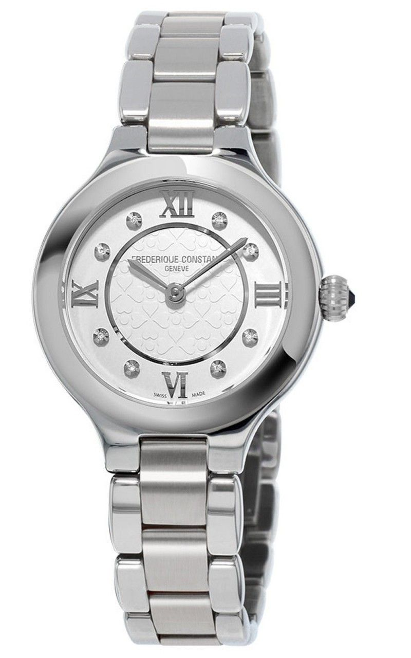 Hình Đồng hồ Classics Delight Silver Diamond Stainless Steel Ladies Watch, 28mm FC-200WHD1ER36B