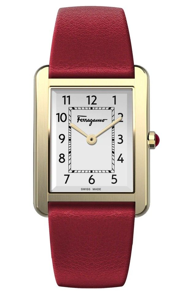 Hình Đồng hồ FERRAGAMO PORTRAIT LEATHER WATCH 24x32mm sfyo00320