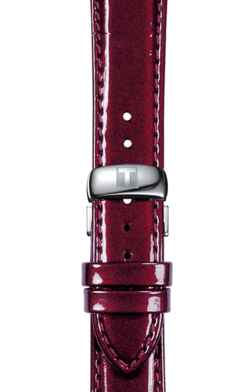 Hình Đồng hồ BURGUNDY LEATHER STRAP 18/16 MM without buckle, strap of T0352101637101 T610031404