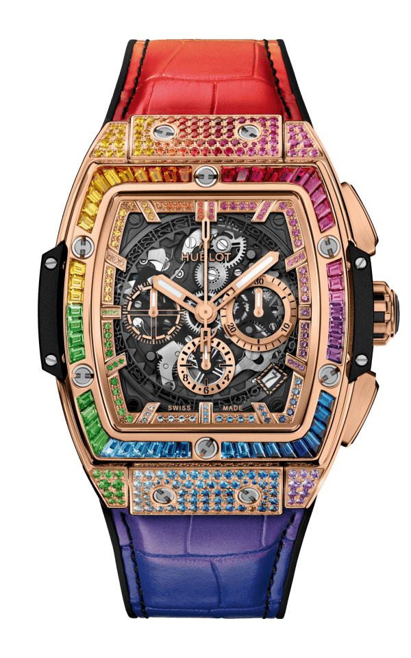 Hình Đồng hồ Spirit of Big Bang King Gold Rainbow 42mm 641.OX.0110.LR.0999