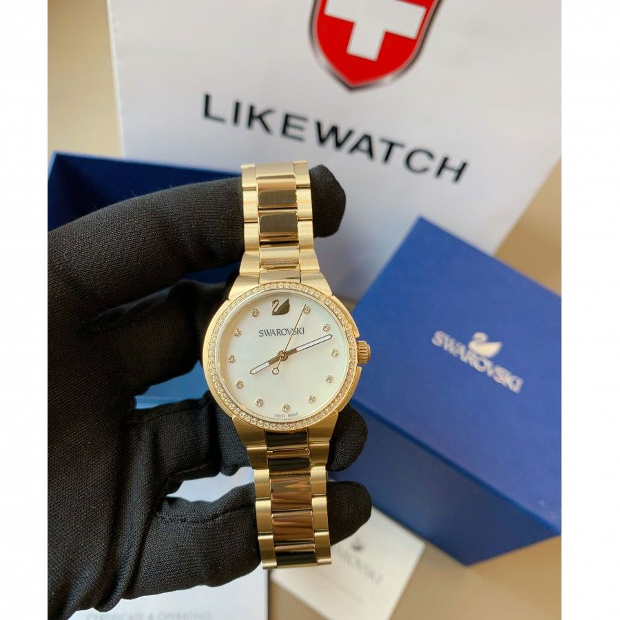 đồng Hồ Swarovski City Mini Mother Of Pearl Ladies Watch 32mm 5221172 Likewatch Com