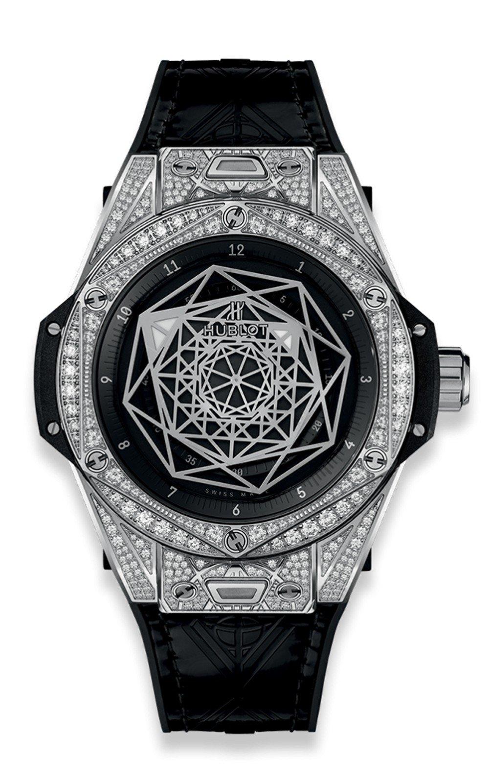 Đồng hồ Big Bang Sang Bleu Steel Pavé 39 mm 465.SS.1117.VR.1704.MXM18 ✓  likewatch.com